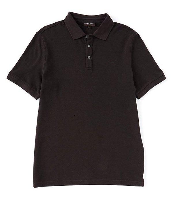 マイケルコース メンズ シャツ トップス Solid Short-Sleeve Polo Shirt Black