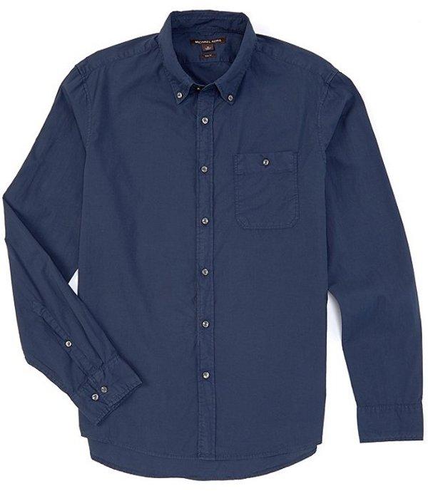 マイケルコース メンズ シャツ トップス Slim-Fit Solid Long-Sleeve Woven Shirt Midnight