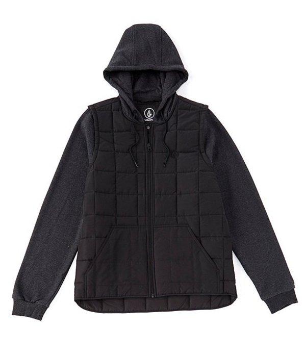 ボルコム メンズ ジャケット・ブルゾン アウター September Quilted Zip-Front Jacket Black