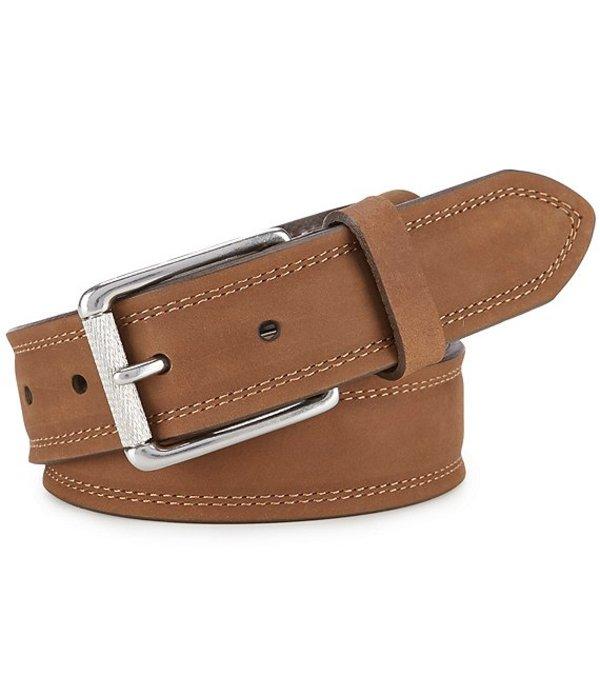 ボーン メンズ カジュアルパンツ ボトムス Men's Distressed Leather Belt Brown