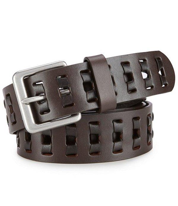 ボーン メンズ カジュアルパンツ ボトムス Men's Two Tone Retro Leather Lace Belt Black/Brown