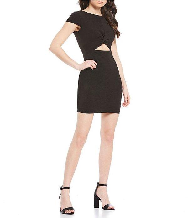 ビーダーリン レディース ワンピース トップス Cap Sleeve Cut-Out-Waist Sheath Dress Black