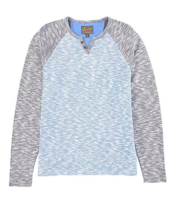 ラッキーブランド メンズ シャツ トップス Color Block Notch-Neck Pullover Blue Multi