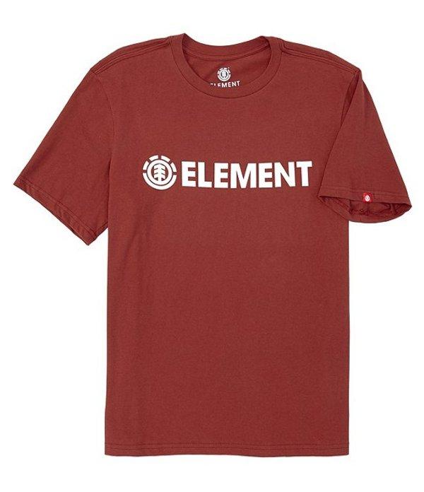 エレメント メンズ シャツ トップス Regular Fit Blazin Short-Sleeve Graphic T-Shirt Port