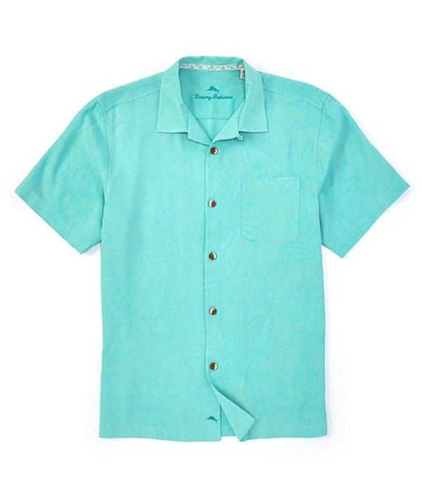 トッミーバハマ メンズ シャツ トップス Big & Tall Al Fresco Tropics Short-Sleeve Woven Shirt Dusty Teal