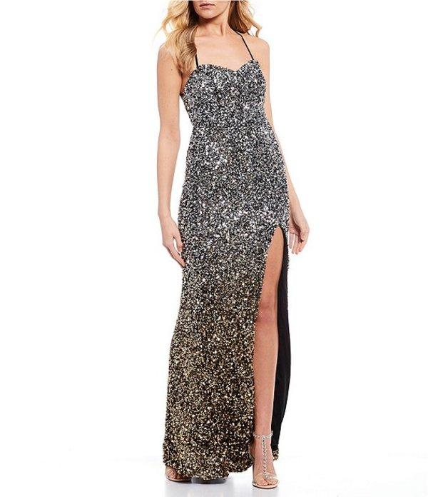 ビーダーリン レディース ワンピース トップス Spaghetti Strap Sequin Ombre Long Dress Silver/Gold/Black