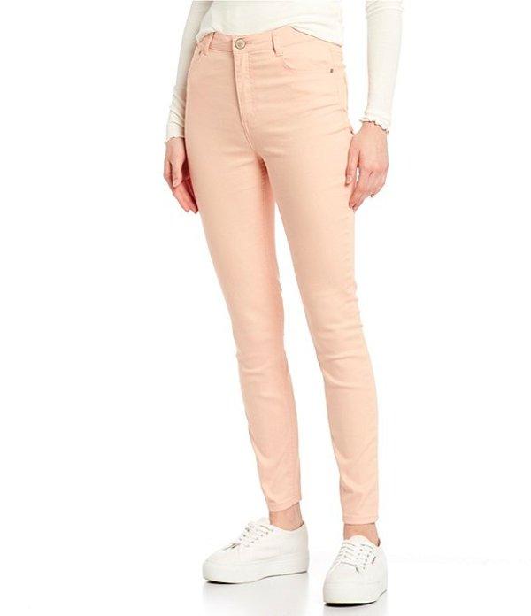 カッパーキー レディース デニムパンツ ボトムス Mid Rise Skinny Jeans Peach