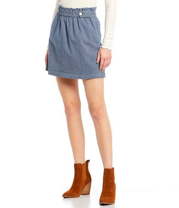 カッパーキー レディース スカート ボトムス Stripe Mini Skirt Blue