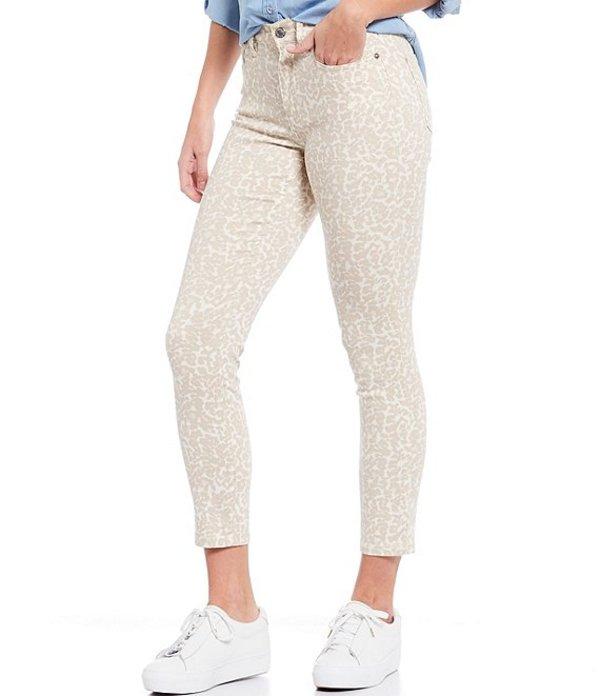 カルバンクライン レディース デニムパンツ ボトムス Jeans High Rise Cheetah Skinny Jean Cheetah Mascarpone