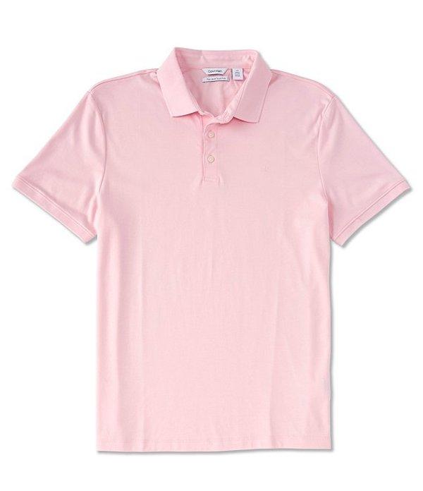 カルバンクライン メンズ シャツ トップス Solid Natural Stretch Short-Sleeve Polo Shirt Ballerina