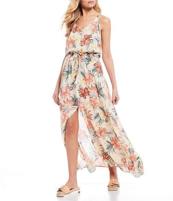 リップカール レディース ワンピース トップス Anini Beach Floral Maxi Dress White