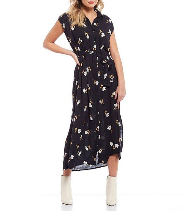 ビラボン レディース ワンピース トップス Little Flirt Printed Maxi Dress Black Floral