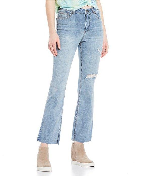 ジービー レディース デニムパンツ ボトムス Side Pocket Flare Leg Jeans Indigo