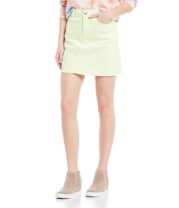 ジービー レディース スカート ボトムス Neon Denim Skirt Lime