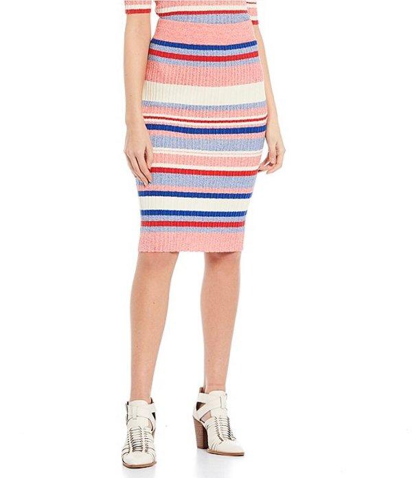 ジービー レディース スカート ボトムス Coordinating Striped Skirt IVMU Ivory