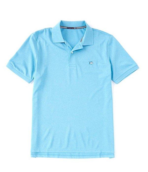 サウザーンタイド メンズ シャツ トップス Heather SkipJack Performance Pique Short-Sleeve Polo Shirt Heather Shoreline Blue