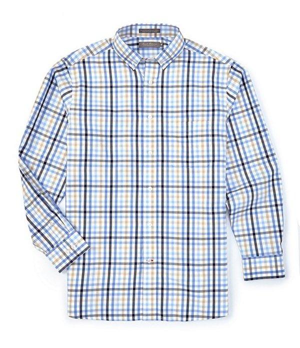 ダニエル クレミュ メンズ シャツ トップス Daniel Cremieux Signature Pinpoint Check Long-Sleeve Woven Shirt French Blue