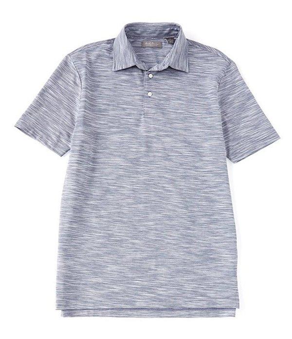ダニエル クレミュ メンズ シャツ トップス Daniel Cremieux Signature Spacedye Short-Sleeve Polo Shirt Navy