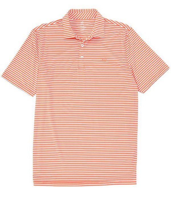 サウザーンタイド メンズ シャツ トップス Bimini Stripe Performance Stretch Short-Sleeve Polo Shirt Mango