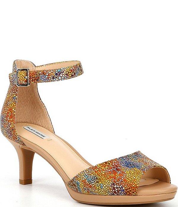 アレックスマリー レディース サンダル シューズ Bevali Printed Leather Platform Dress Sandals Multi