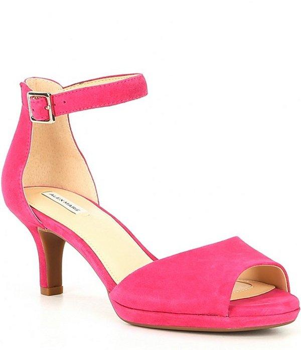 アレックスマリー レディース サンダル シューズ Bevali Suede Ankle-Strap Platform Sandals Geranium