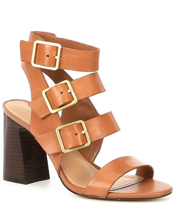 ギブソンアンドラティマー レディース サンダル シューズ Sharlie Leather Banded Buckle Dress Sandals Brown