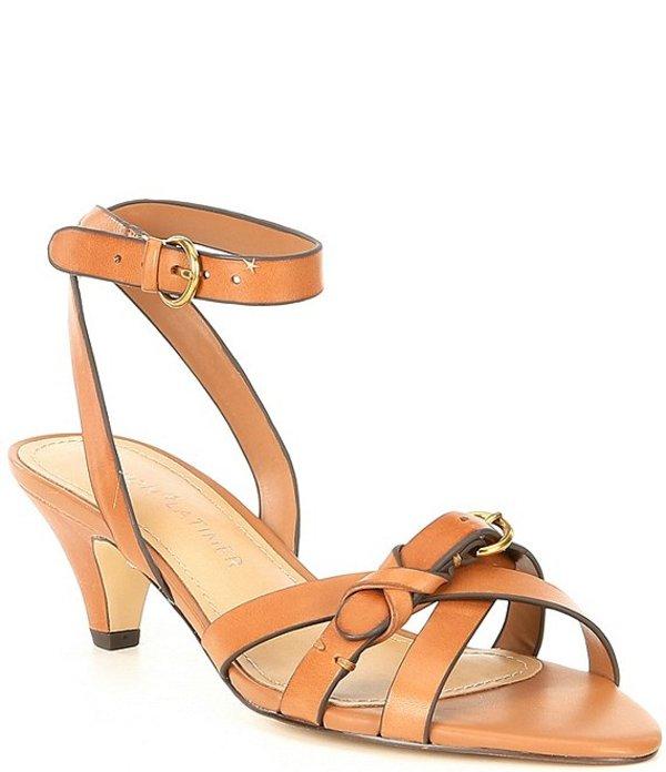ギブソンアンドラティマー レディース サンダル シューズ Gianna Leather Kitten Heel Dress Sandals Cognac