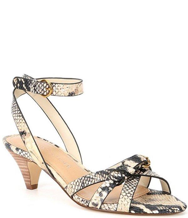 ギブソンアンドラティマー レディース サンダル シューズ Gianna Snake Print Leather Kitten Heel Dress Sandals Snake