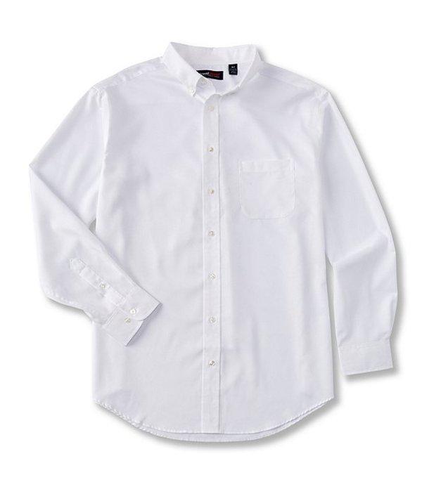 ラウンドトゥリーアンドヨーク メンズ シャツ トップス TravelSmart Long-Sleeve Solid Dobby Sportshirt White