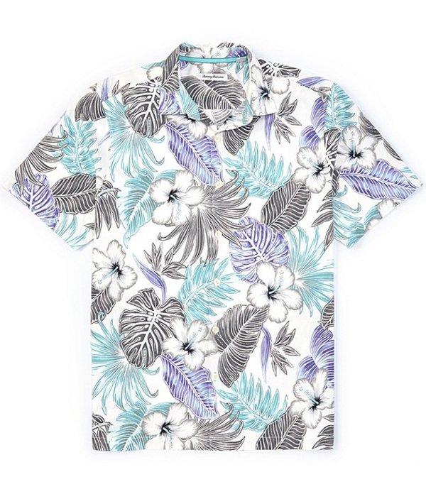 トッミーバハマ メンズ シャツ トップス Big & Tall Konkan Jungle Stretch Short-Sleeve Woven Shirt Continental