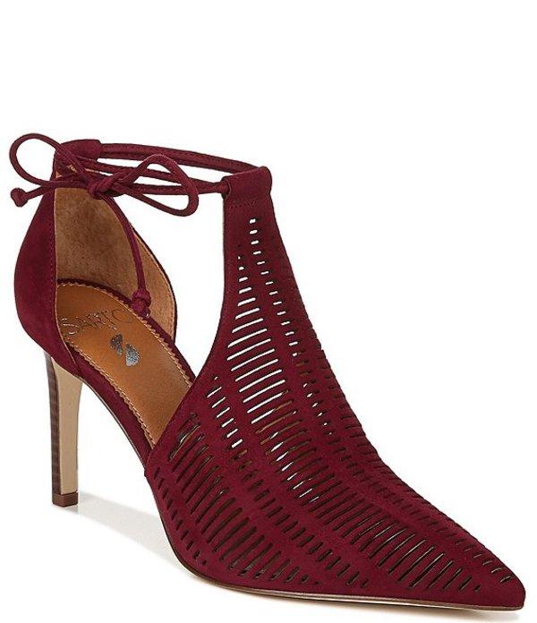 フランコサルト レディース ヒール シューズ Sarto by Franco Sarto Krista Suede Ankle Tie d'Orsay Pumps Bordo