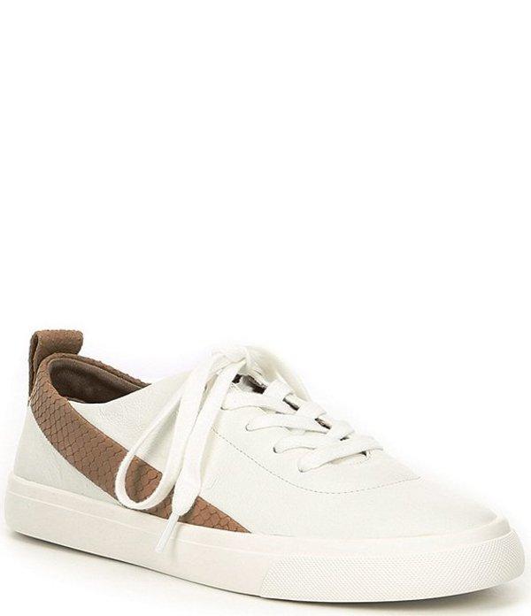アントニオ メラーニ レディース ドレスシューズ シューズ Adriella Leather Snake Print Detail Sneakers White/Dusty Taupe