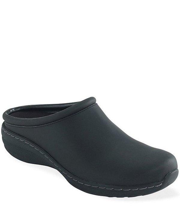 エイトレックス レディース サンダル シューズ Robin Slip Resistant Oiled Leather Clogs Black Oiled
