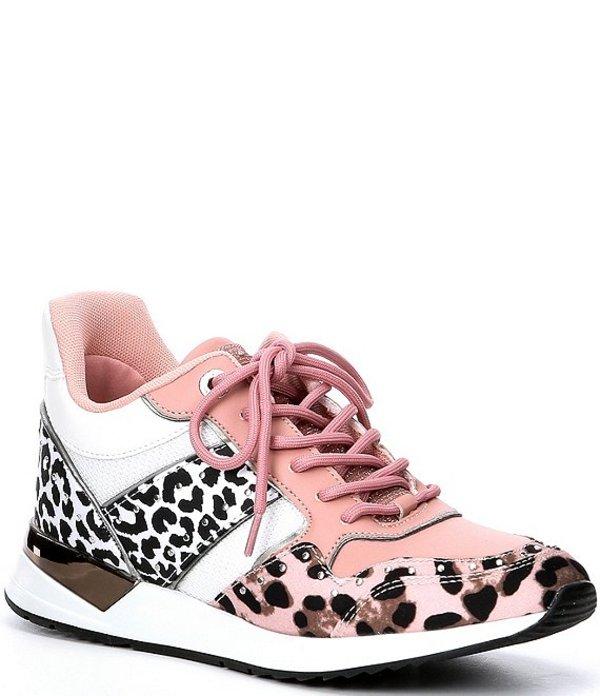 ゲス レディース ドレスシューズ シューズ Rejjy Leopard Print Colorblock Sneakers Multi