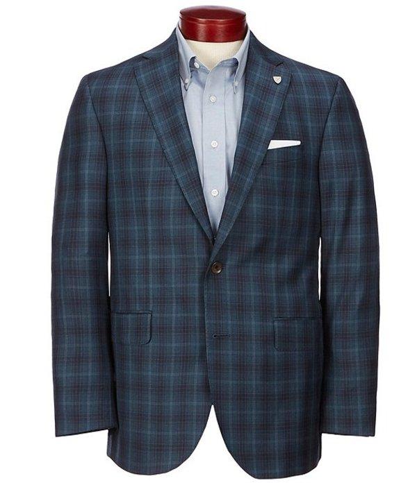 ダニエル クレミュ メンズ ジャケット・ブルゾン アウター Classic Fit Plaid Wool Sportcoat Teal