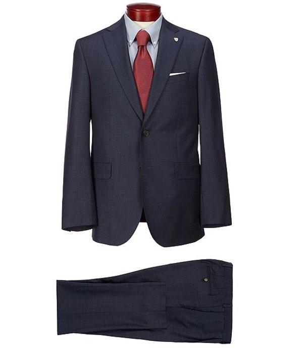 ダニエル クレミュ メンズ ジャケット・ブルゾン アウター Classic Fit Windowpane Wool Suit Navy