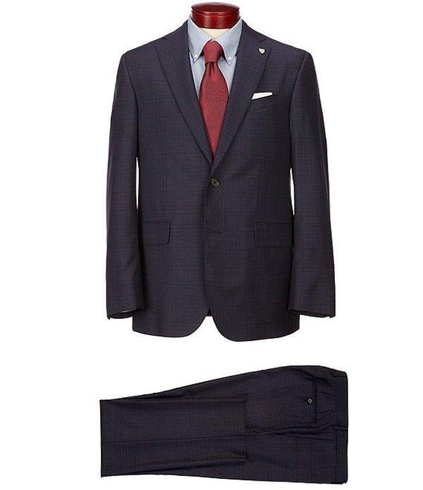 ダニエル クレミュ メンズ ジャケット・ブルゾン アウター Classic Fit Berry Plaid Wool Suit Berry