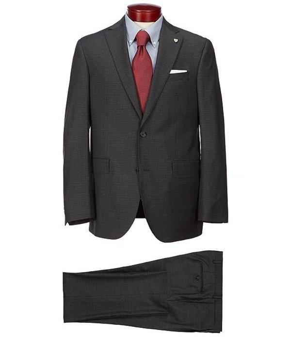 ダニエル クレミュ メンズ ジャケット・ブルゾン アウター Classic Fit Houndstooth Wool Suit Grey