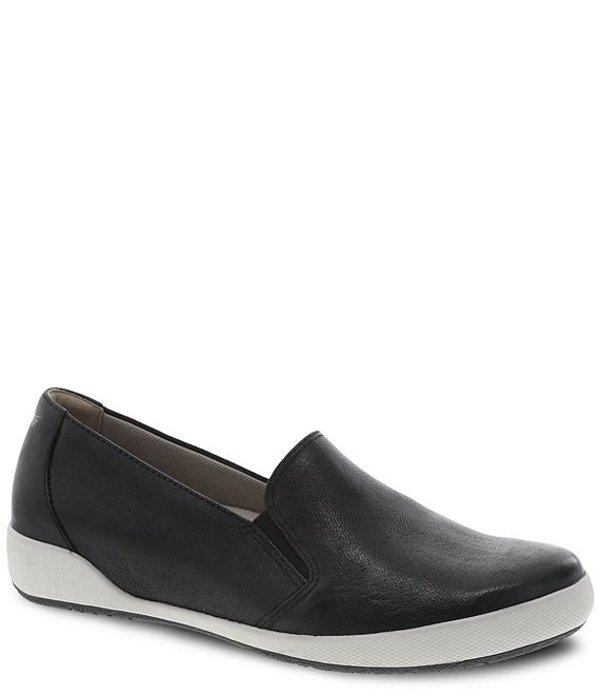 ダンスコ レディース スリッポン・ローファー シューズ Odina Leather Slip On Loafers Black