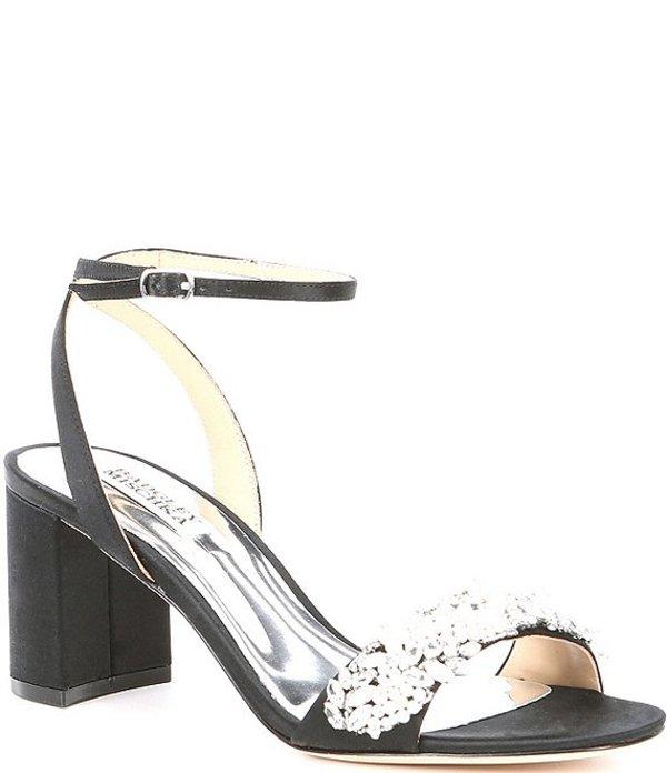 バッジェリーミシュカ レディース サンダル シューズ Clara Jewel Embellished Satin Dress Sandals Black