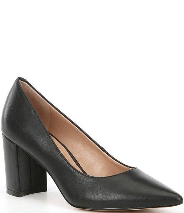 チェルシーアンドバイオレット レディース ヒール シューズ Maria Leather Block Heel Pumps Black