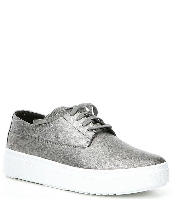 エイリーンフィッシャー レディース ドレスシューズ シューズ Prop Metallic Leather Platform Sneakers Silver Metallic Leather