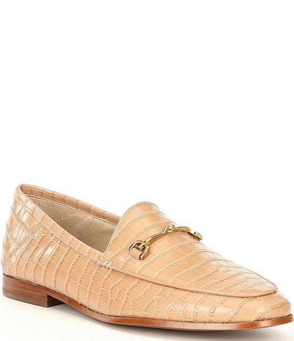 サムエデルマン レディース スリッポン・ローファー シューズ Loraine Croco Embossed Leather Loafers Toasted Almond