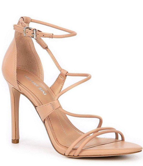 ジャンビニ レディース サンダル シューズ Kameela Leather Strappy Dress Sandals Beauty Blush