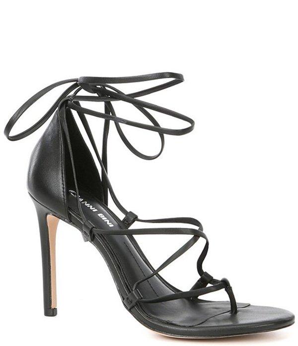ジャンビニ レディース サンダル シューズ Barilee Leather Strappy Tie Dress Sandals Black