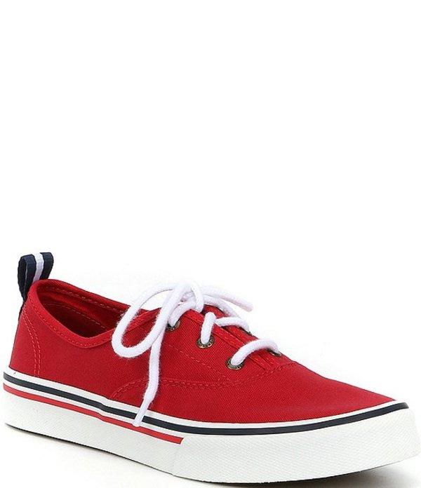 スペリー レディース ドレスシューズ シューズ Women's Crest CVO Canvas Lace-Up Sneakers Red