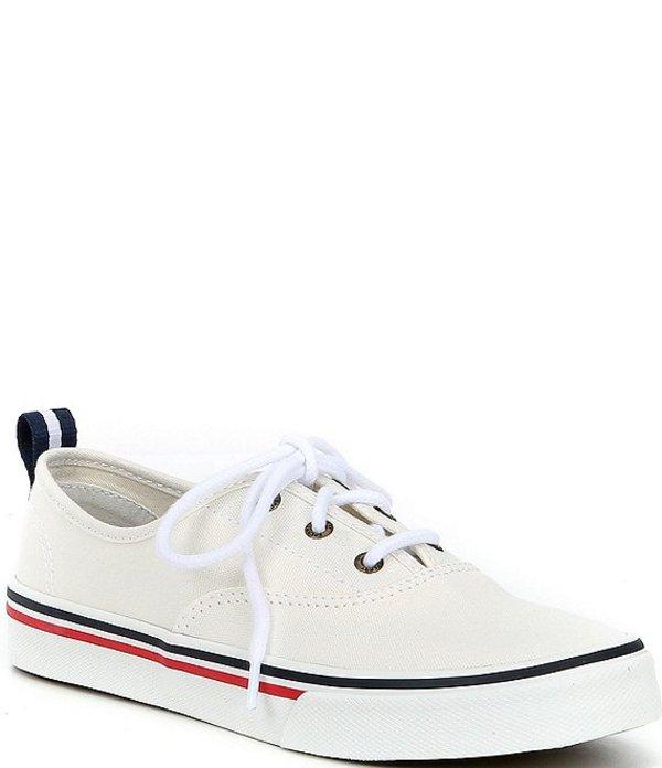 スペリー レディース ドレスシューズ シューズ Women's Crest CVO Canvas Lace-Up Sneakers White
