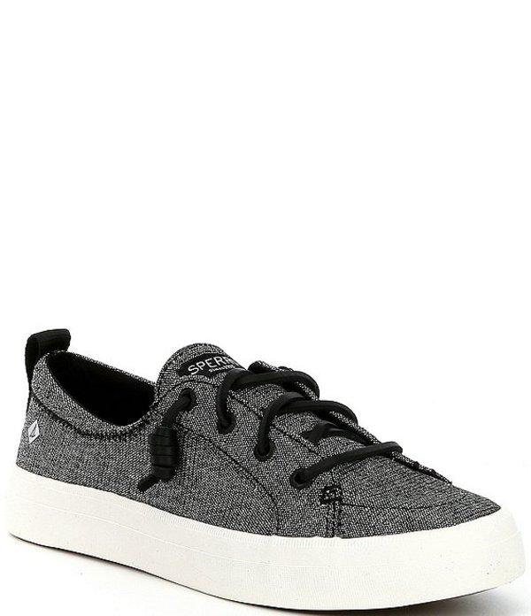 スペリー レディース ドレスシューズ シューズ Crest Vibe Sparkle Stripe Linen Sneakers Black