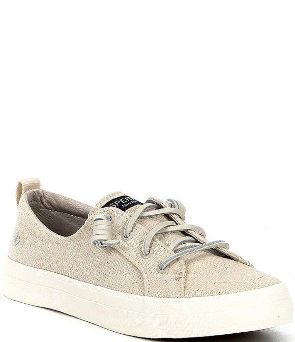 スペリー レディース ドレスシューズ シューズ Crest Vibe Sparkle Stripe Linen Sneakers Oatmeal