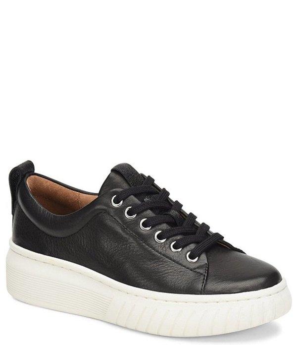 ソフト レディース ドレスシューズ シューズ Pacey Leather Lace-Up Platform Sneakers Black